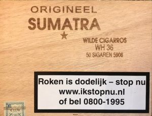 Origineel Sumatra Wilde Cigarros WH 36 50 sigaren Cigaronline.nl